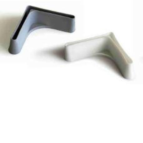 pie plastico 35x35 blanco estanteria metalica