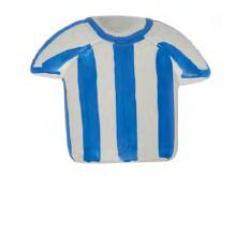 pomo camiseta rallas azules 386ra pintado a mano nesu