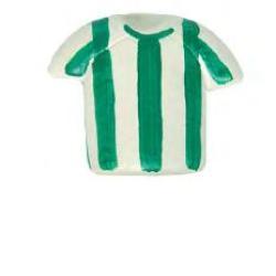 pomo camiseta rayas verdes 386rv pintado a mano nesu