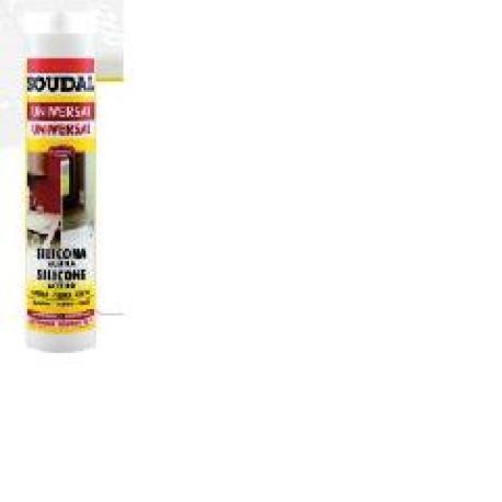 soudal silicona acetica universal blanca 280 ml